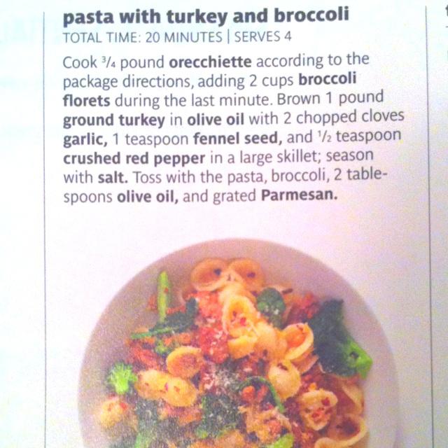 Ground turkey, pasta, & broccoli | Food | Pinterest ...