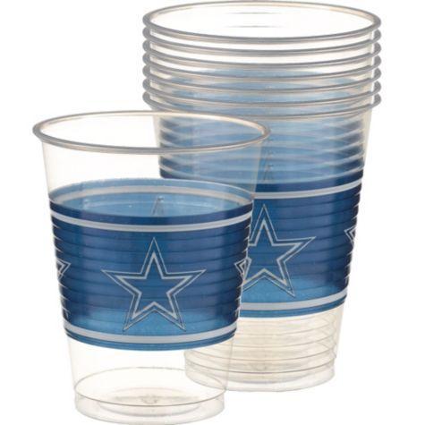 Plastic Dallas Cowboys Cups 16oz 25ct - Party City