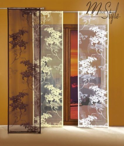 single net sheer window panel blind curtain fly screen multple sizes slot top other rooms. Black Bedroom Furniture Sets. Home Design Ideas