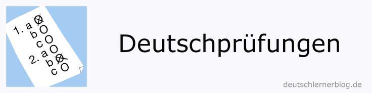 Deutschprüfungen A1 bis C2 – Modellprüfungen / Musterprüfungen | deutschlernerblog – für alle, die Deutsch lernen