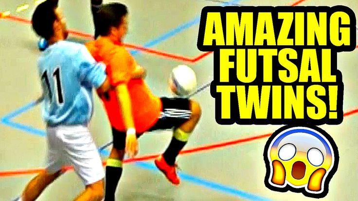 Amazing FUTSAL Twins - Ultimate Skills ★ Falcao/Neymar/Ronaldo/Ricardinh...