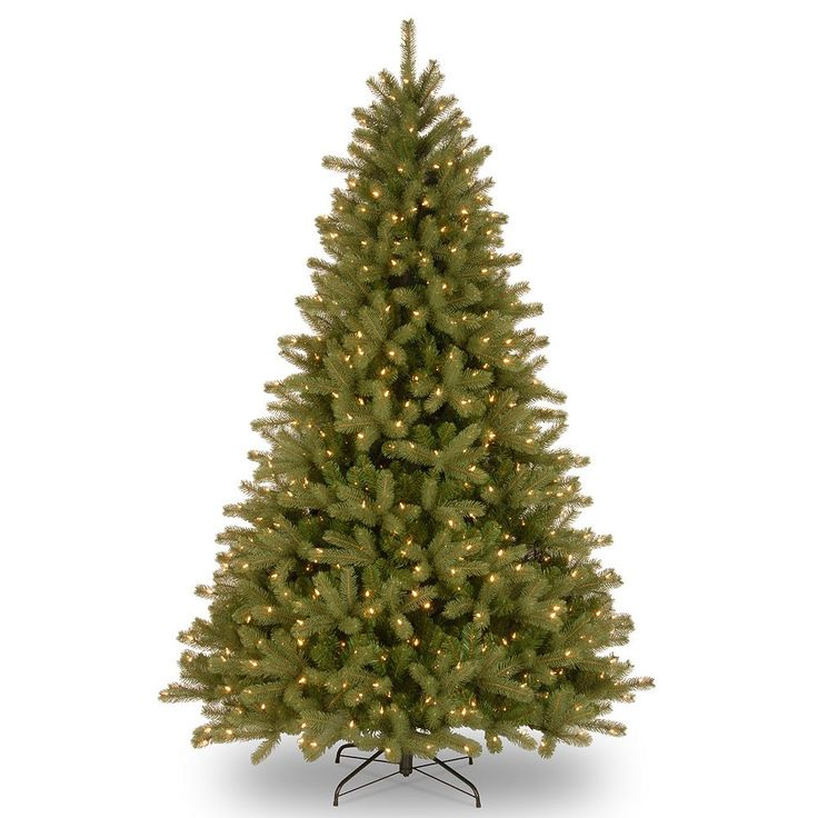 National Tree Company 9-ft. Pre-Lit Dual Color ''Feel-Real'' Lakewood Spruce Artificial Christmas Tree Floor Decor, Green