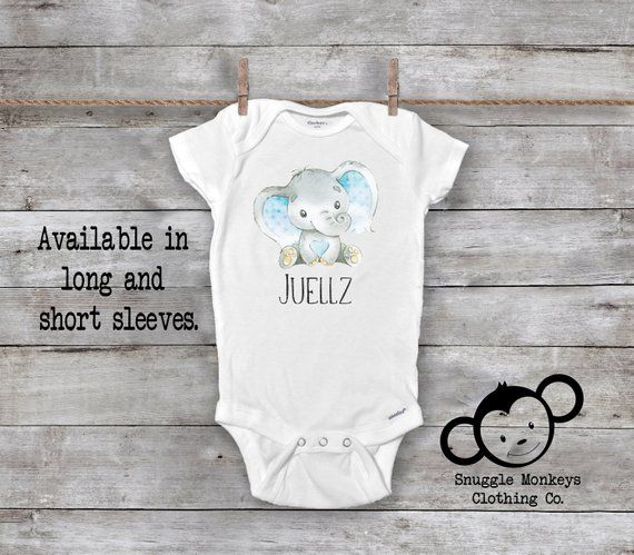 Elephant Little Peanut Unisex Baby Soft Onesie Sleeveless Jumpsuit Shower Gift White
