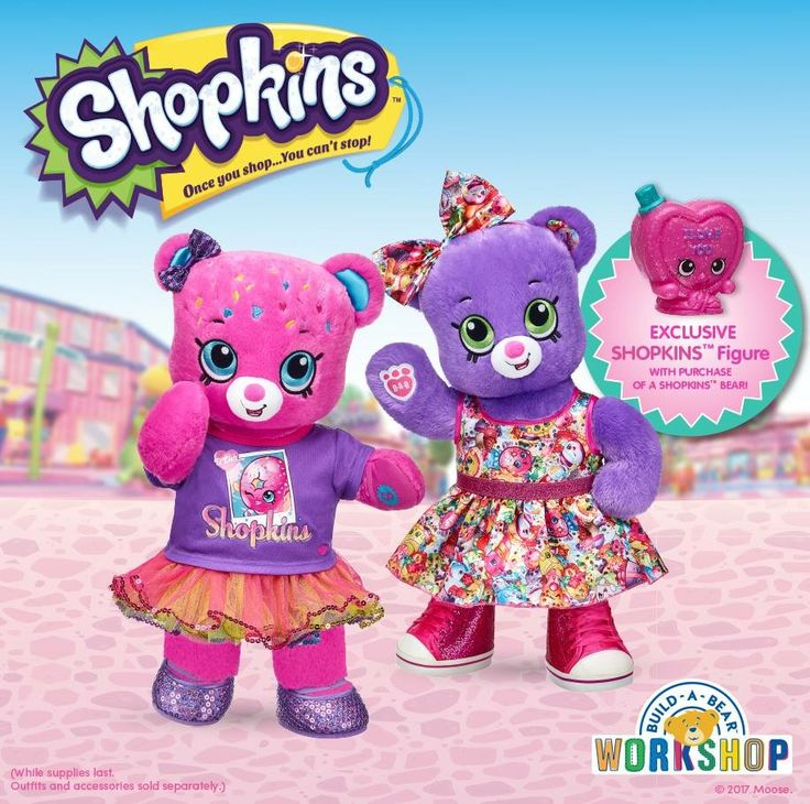 Build a Bear new Shopkins Bears and clothes. Release date is August 10th (U.S.)
