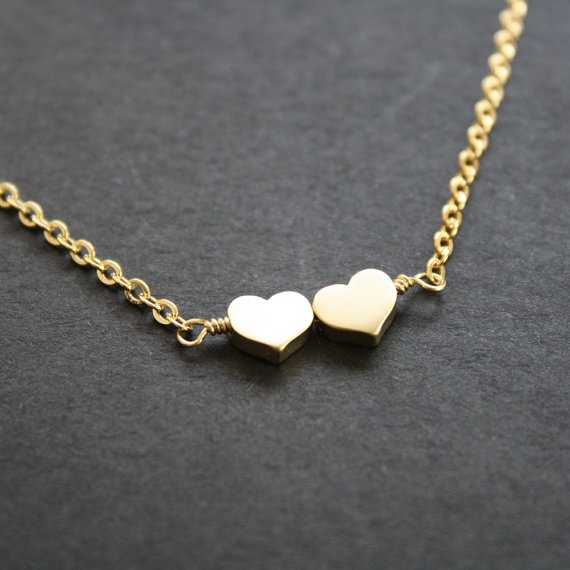 Gold Small Hearts Necklace