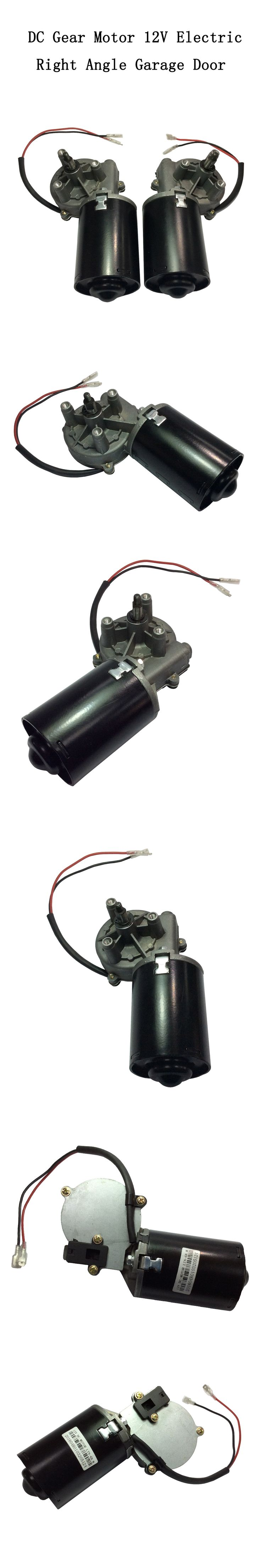 DC Gear Motor High Torque 6N.m Garage Door Raplacement 12V Electric Right Angle Reversible Worm Gear Motor Left Gear-Box