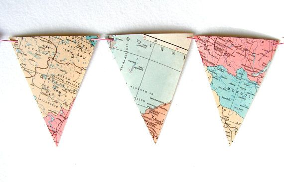whimsical map banners available from moon and lion http://www.etsy.com/shop/moonandlion?ref=seller_info
