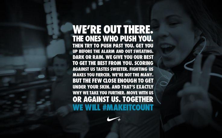 Nike running quote   motivational Makeitcount Nike  Nike Motivation    Running Quotes Nike
