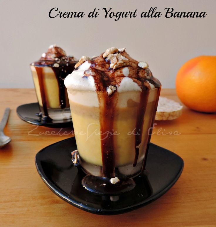 Crema di yogurt alla banana