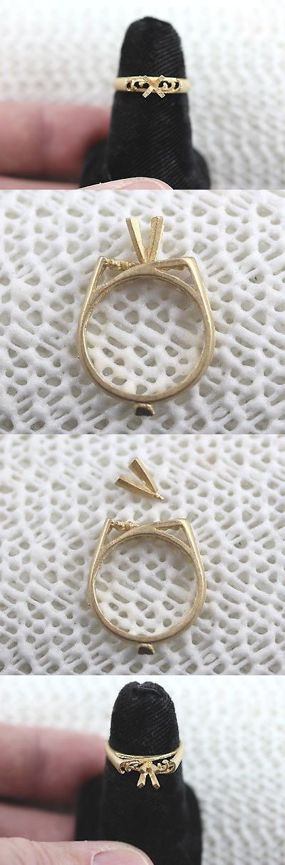 Ring 67710: Size 5.5 Ring Setting And Separate Head Solid 14K Yellow Gold Scrap Gold Price BUY IT NOW ONLY: $81.0