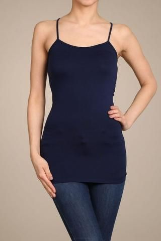 Navy Cami Slip Dress (Sizes 12-18) - SLP004NV
