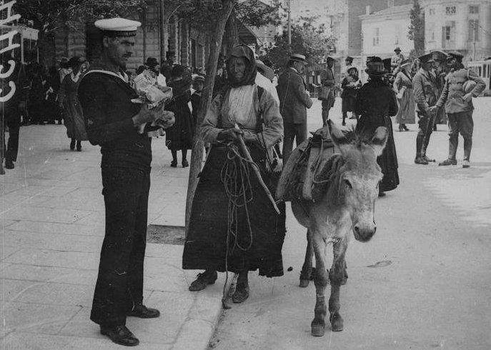 ΑΘΗΝΑ, 1918. Πανεπιστημίου και Πατησίων.