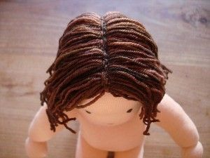 How to Sew Yarn Hair onto Your Doll    http://dollydonations.blogspot.com/2010/05/how-to-sew-yarn-hair-onto-your-doll.html