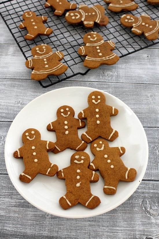 Eggless gingerbread men cookies recipe - a must have cookie recipe for holiday cookie platter. This can be your edible tree ornament.
