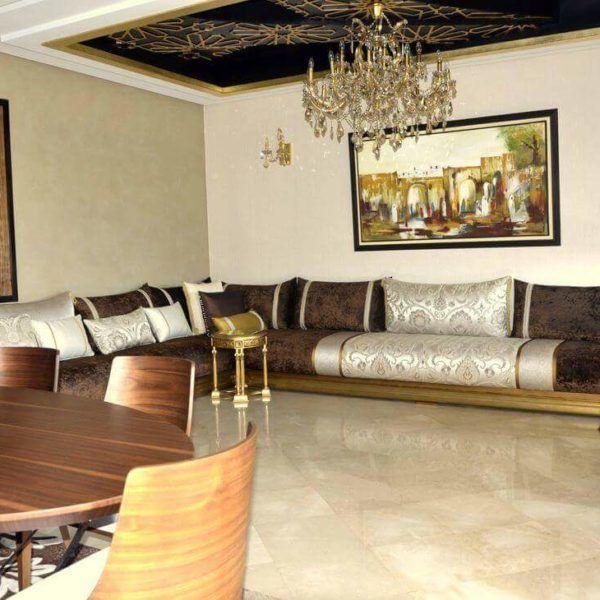 Espace deco salon marocain r alisation du talentueux for Salon moderne petit espace