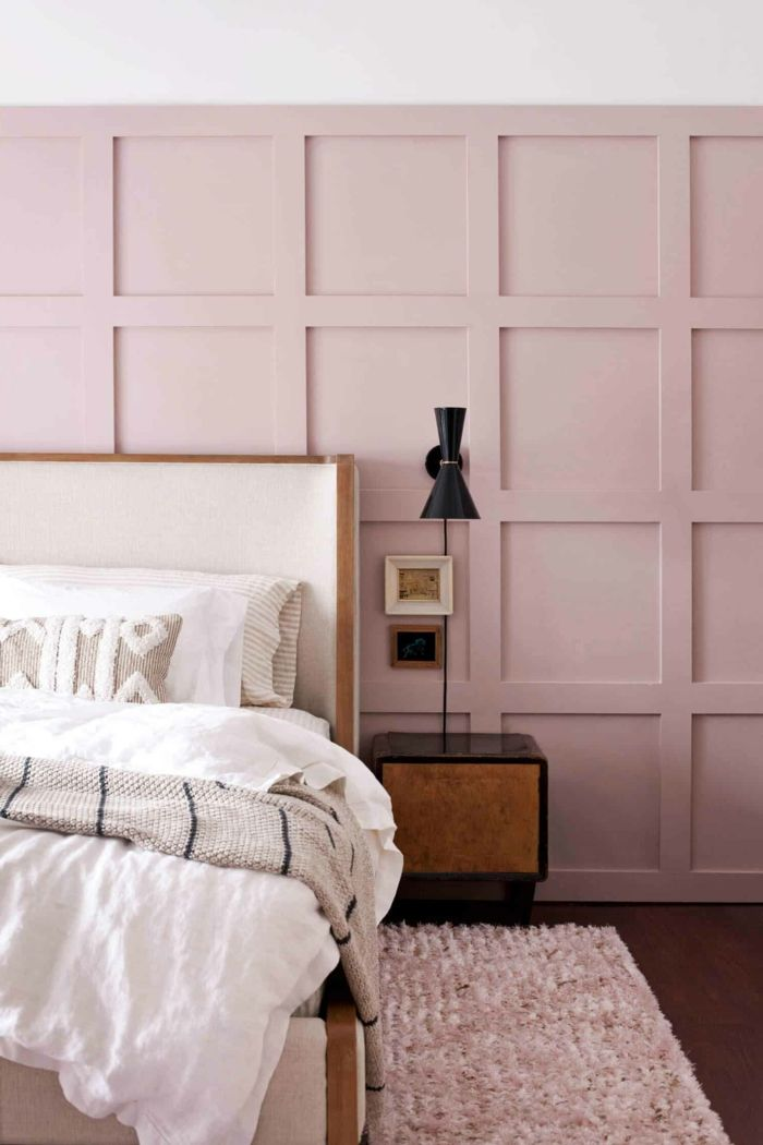 Moderne Wandfarbe Inspiration Schlafzimmer Altrosa Teppich In Rosa In 2020 Wandfarbe Haus Deko Haus