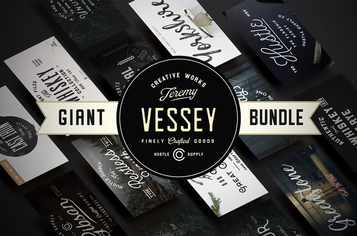 Giant Bundle | 56 Fonts by hustlesupplyco on @creativemarket