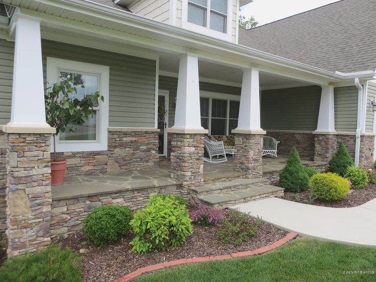 Ranch Style Homes Front Porch Designs Houses Exterior Craftsman