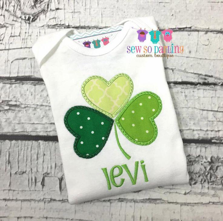 Baby Boy St Patricks Day Shirt - St Patricks Day Outfit - St Patricks Day shirt - Baby Boy Shamrock Shirt by SewSoDarling on Etsy