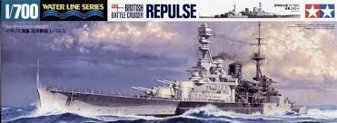 undefinedThis is a plastic model assembly kit of the British Battle Cruiser Repulse. 1/700, Length 344mm, Width 39mm. The smart slender hull and nicely balanced upper structures captures the style and feeling of this model. The reinforced anti-aircraft armament realistically replicates the wartime setting. The highlight of this model is the exact expression of the bridge deck and its masts.