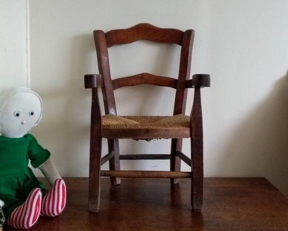 ancienne chaise d enfant artisanale en