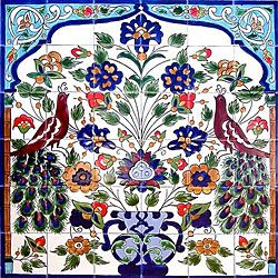 Mosaic 'Peacock' Ceramic 36-tile Mural   Overstock™ Shopping - Big Discounts on Arts Exotiques Decorative Tiles