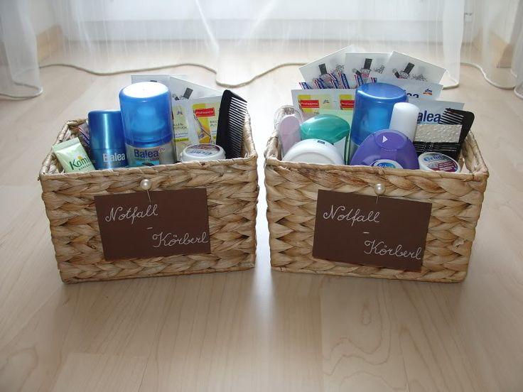 Hochzeit Notfallkörbchen - die sollten auf alle Fälle beim Waschbecken stehen