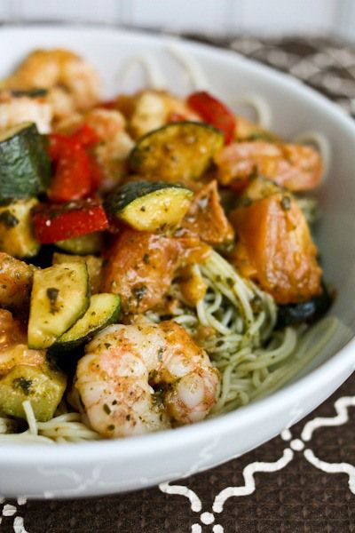 Healthy and Delicious: Try this Shrimp, Zucchini, and Pesto Angel Hair Pasta