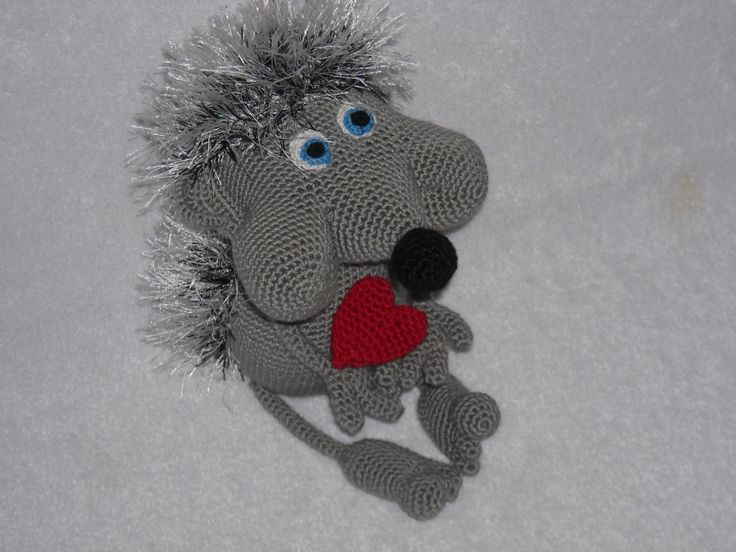 Hedgehog chubby cheeks.  Amigurumi crochet  hedgehog Crochet Stuffed Doll Toy. b…