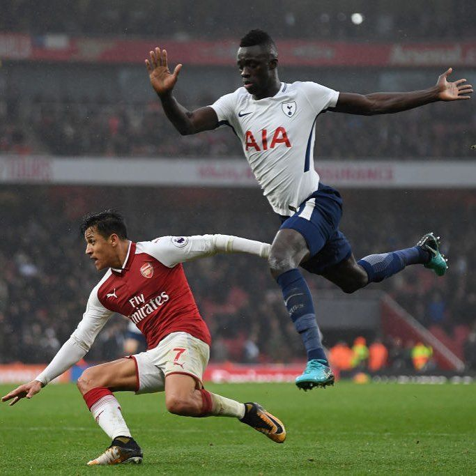 """10 Likes, 4 Comments - Evening Standard Sport (@standard_sport) on Instagram: """"Arsenal's Alexis Sanchez of Arsenal is challenged by Tottenham Hotspur's Davinson Sanchez during…"""""""