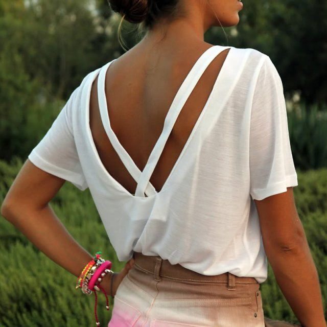 10 DIY pour customiser un T-shirt blanc                                                                                                                                                                                 Plus