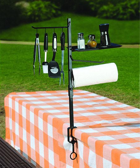 BBQ Accessory Organizer,ALSO MOUNTS ON MANY GRILL TYPES