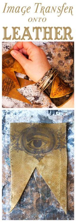 DIY Image Transfer onto LeatherUse Citrasolv (a natural cleaner)... - childrens jewellery, internet jewelry, discount gold jewelry *ad