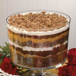 Peanut Butter Chocolate trifle...
