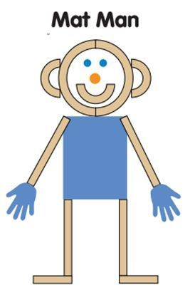 HWT mat man teaches great readiness skills such as body awareness, pre- writing, sequencing, and counting. LOVE MAT MAN!