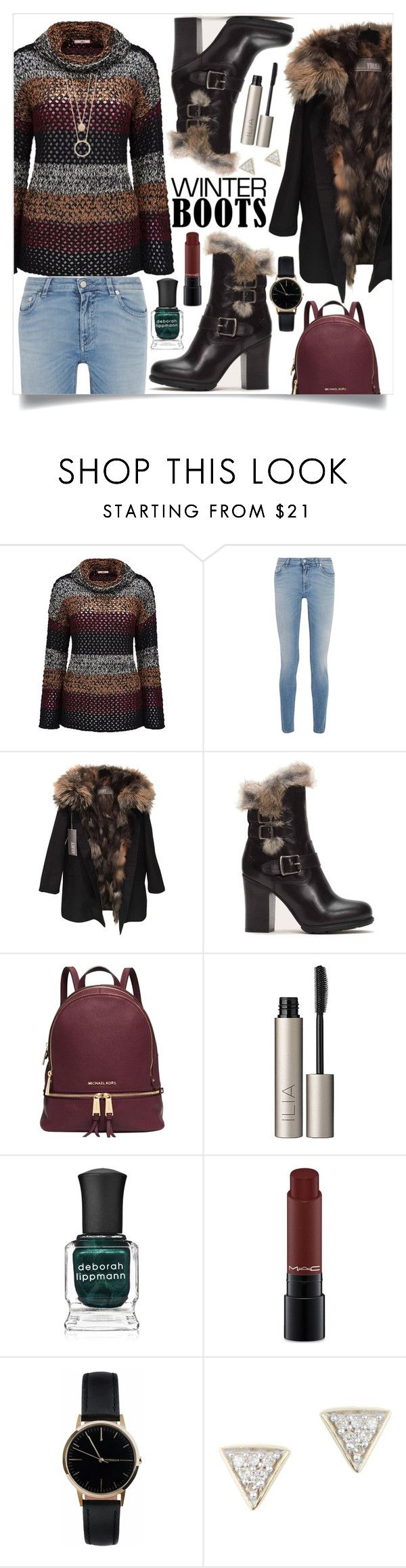 """""""Winter Boots"""" by turtle03 ❤ liked on Polyvore featuring Joe Browns, Givenchy, Yves Salomon, Frye, Michael Kors, Ilia, Deborah Lippmann, MAC Cosmetics, Freedom To Exist and Adina Reyter"""