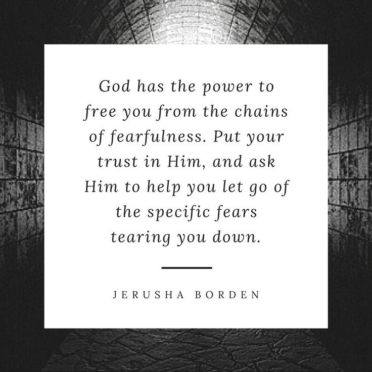 Breaking free from fear, fear, trust, encouragement for Christians