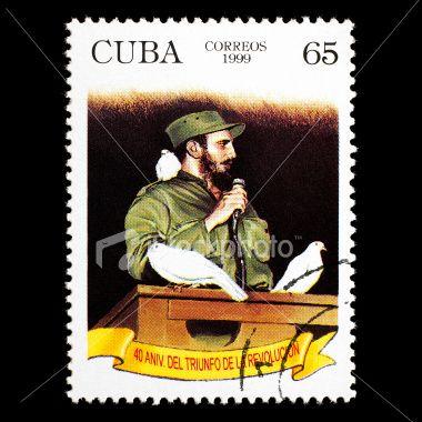 Post stamp with Fidel Castro
