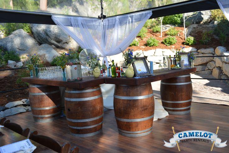 Wine barrel bar weddings for How to make a wine barrel bar