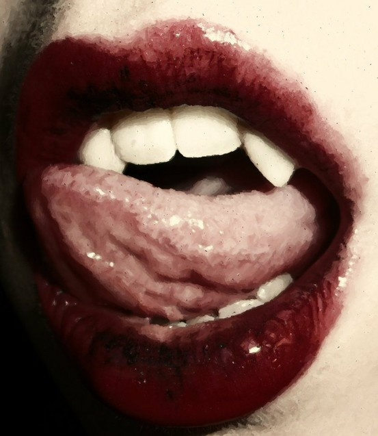 Vampire Lips And Fangs