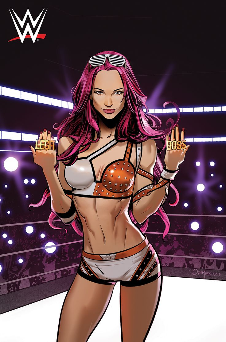 Sasha Banks by Dan Mora The Boss WWE wrestling Boom! Studios -