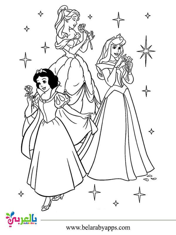 رسومات اميرات ديزني للتلوين صور تلوين بنات للطباعة بالعربي نتعلم Elsa Coloring Pages Flower Background Wallpaper Art Drawings
