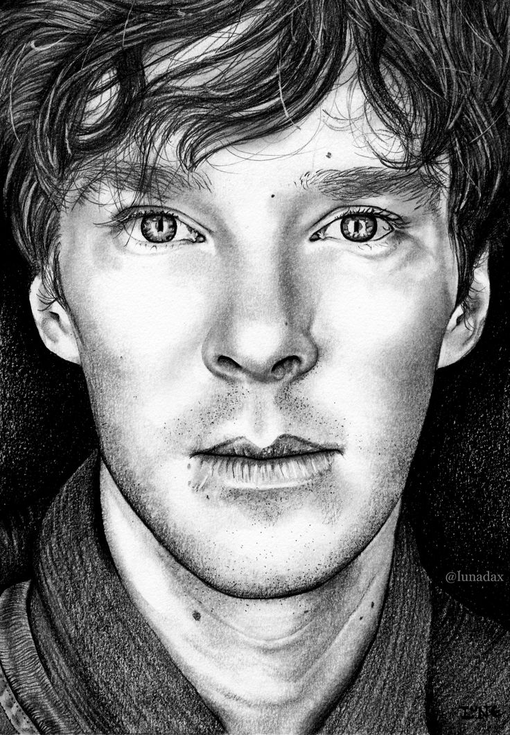 Benedict Cumberbatch, Graphite pencil, carbon pencil and Graphite Powder on Canson Bristol paper