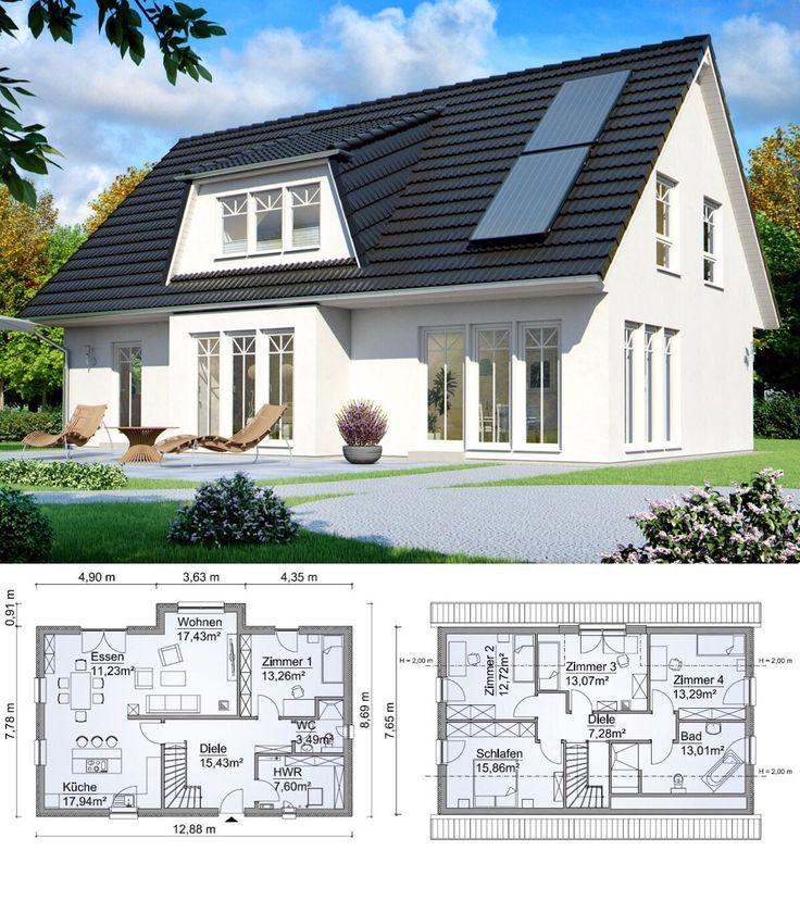 Fertighaus Klassisch Mit Satteldach Architektur, Gaube
