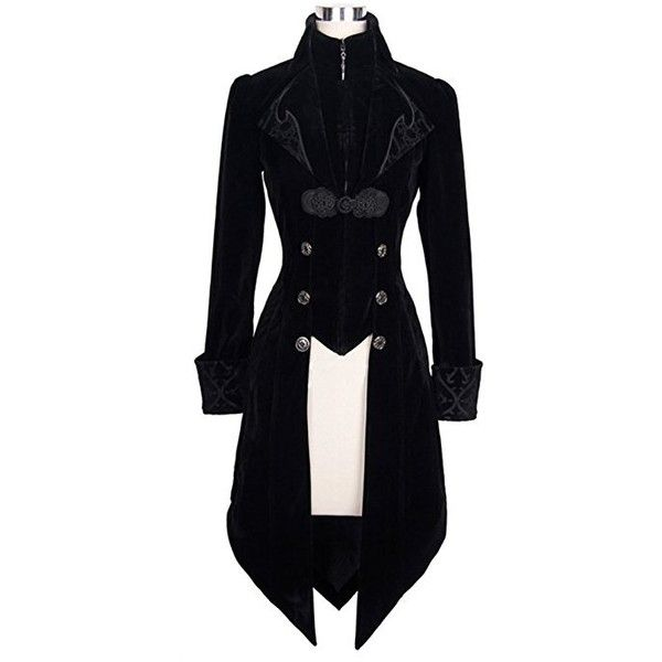 Devil Fashion Maelstrom Velvet Jacket (UK10) ❤ liked on Polyvore featuring outerwear, jackets, blue velvet jacket, velvet jackets and blue jackets