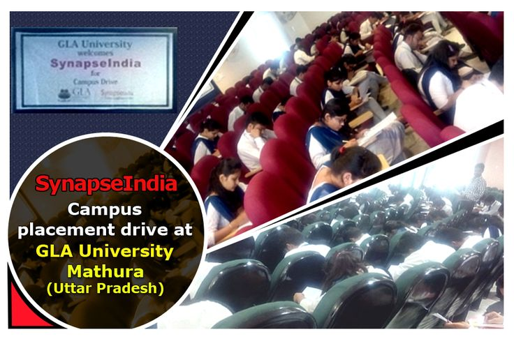A campus placement drive by SynapseIndia was conducted at GLA University in Mathura, Uttar Pradesh on 14th Nov, 2016. B.Tech(CSE) & MBA final year students appeared in SynapseIndia campus placement drive. The university has structured processes. We offer job opportunities to B.Tech freshers through campus recruitment for open positions with us in different IT & business disciplines including .Net, Android, SEO, ORM and Testing.
