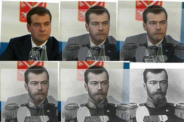Медведев и Николай II. #Medvedev #Russia