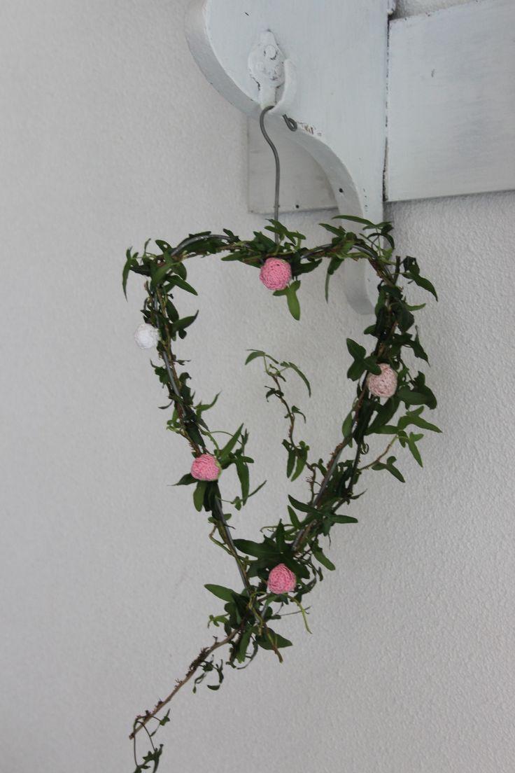 Hart van rozenknopjes
