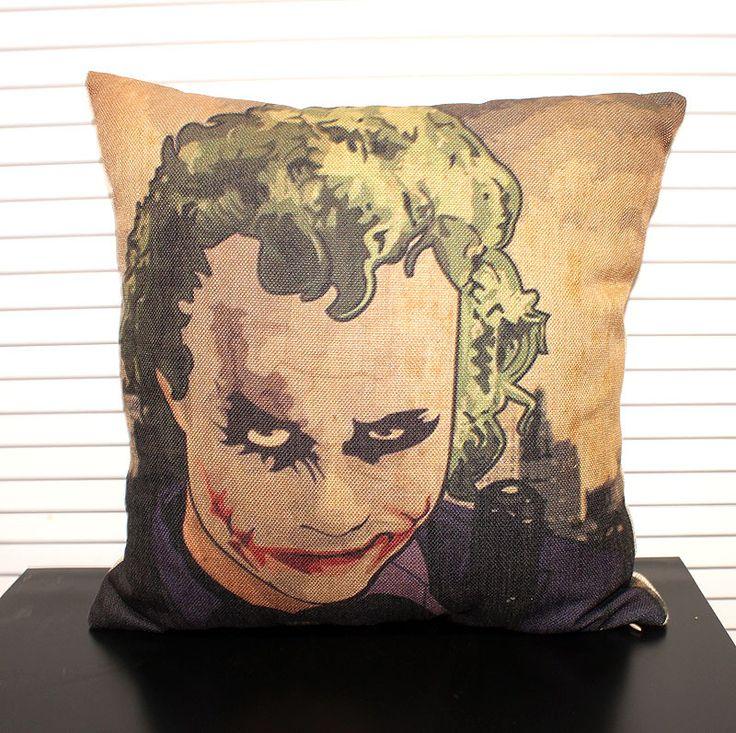 Джокер наволочка, ретро Клоун Джокер Бэтмен классический мультфильм выражения лица бросьте наволочку наволочки/посуда