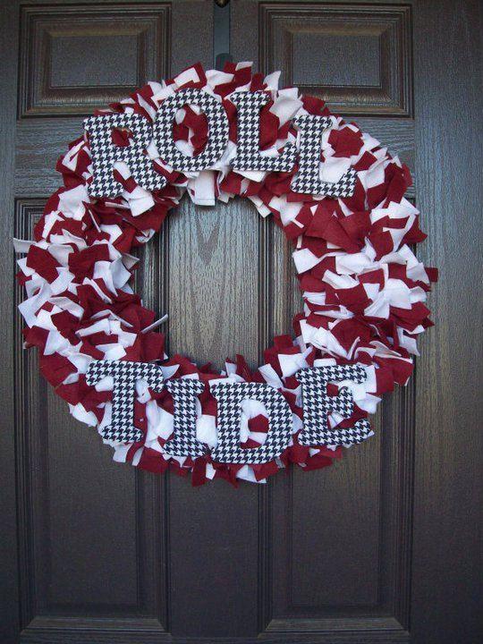roll tide wreath